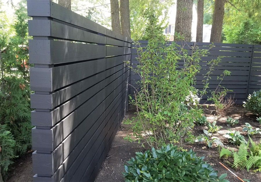 Two-sided Contemporary Fence