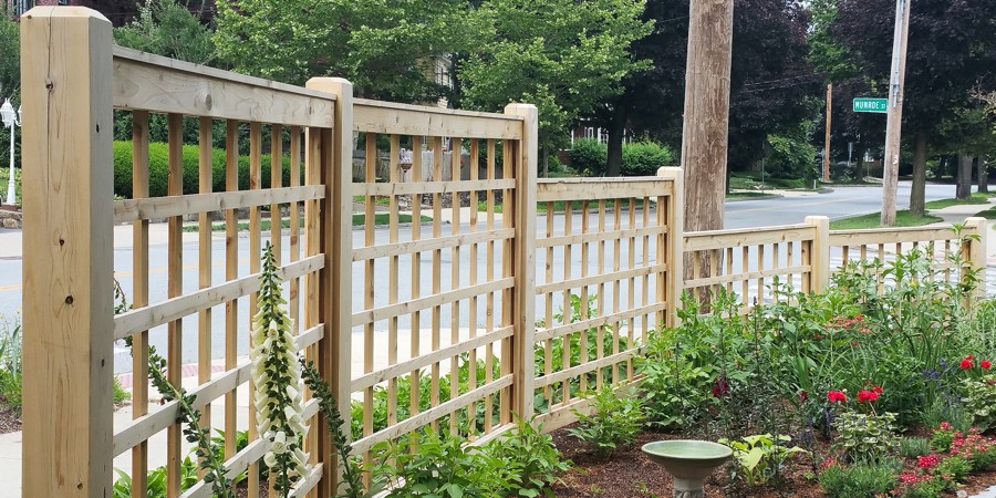 Square Lattice Garden Fence