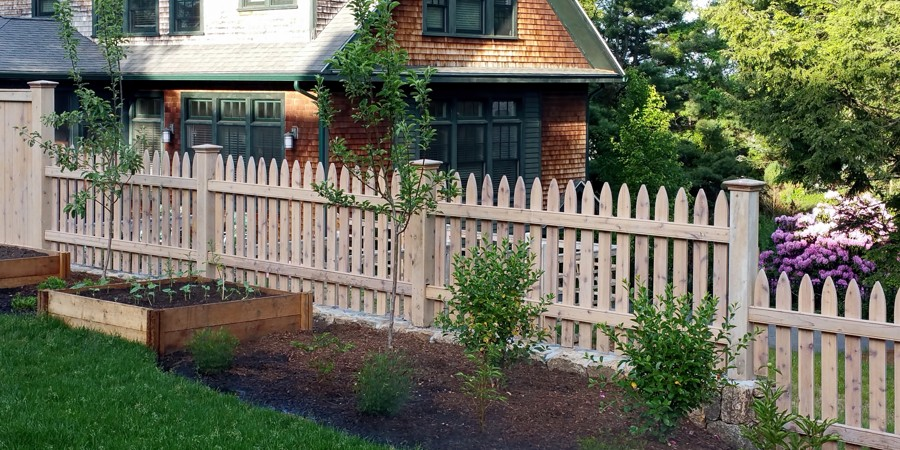 Picket Fence w/ Bleaching Stain